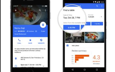 Reservar mesas en Restaurantes con Google Maps