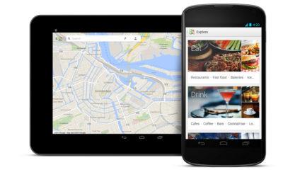 Las apps de Google Maps se actualizan permitiendo compartir direcciones y filtrar restaurantes por tipo de cocina